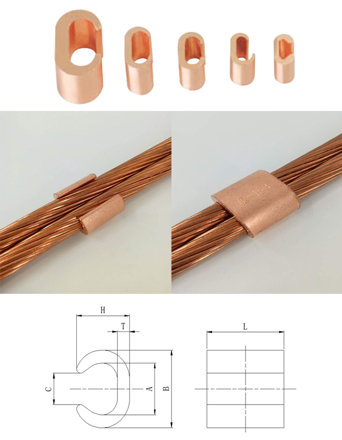 Manufactured Copper Wire Clamp for Earth