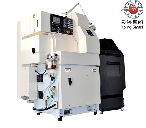 Double Spindles Mitsubishi Siemens Fanuc System CNC Lathe Machine with Good Price High Quality