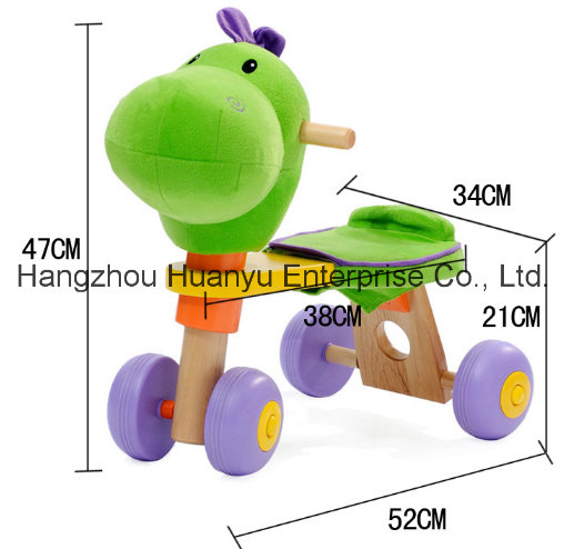 High Quality Wooden Baby Bicycle with Dinosaur Head