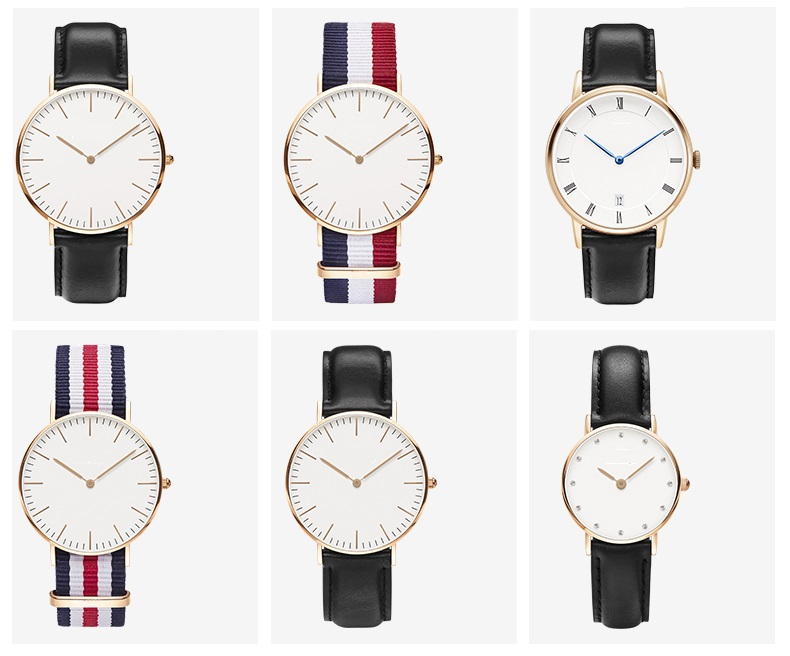 Watches Women Fashion Watch 2016 Rose Gold Casual Quartz Watch Leather Strap Men Watches Relogio Feminino Mas