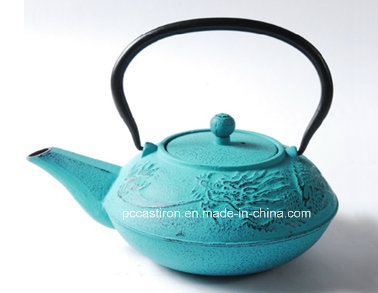Embossed Cast Iron Teapot 0.7L