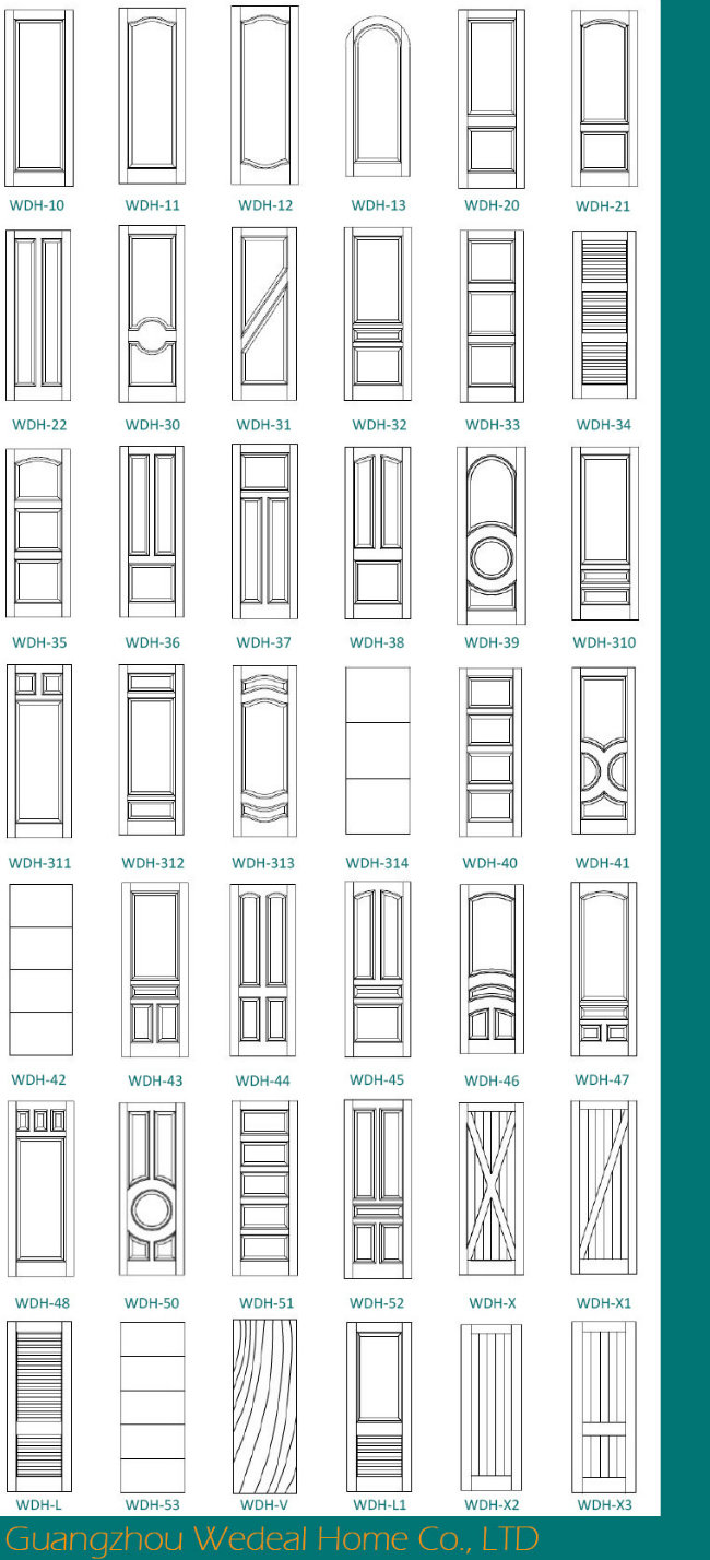 Classic Two Panel Interior Door for Houses Projects