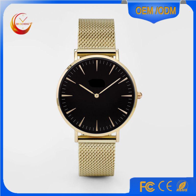 Fashion Ladies Men's Quartz Stainless Steel Wrist Watch (DC-234)