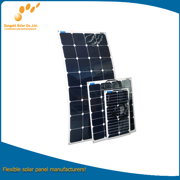 Semi Flexible Solar Panel Kit 50W Mono or Poly with Diode
