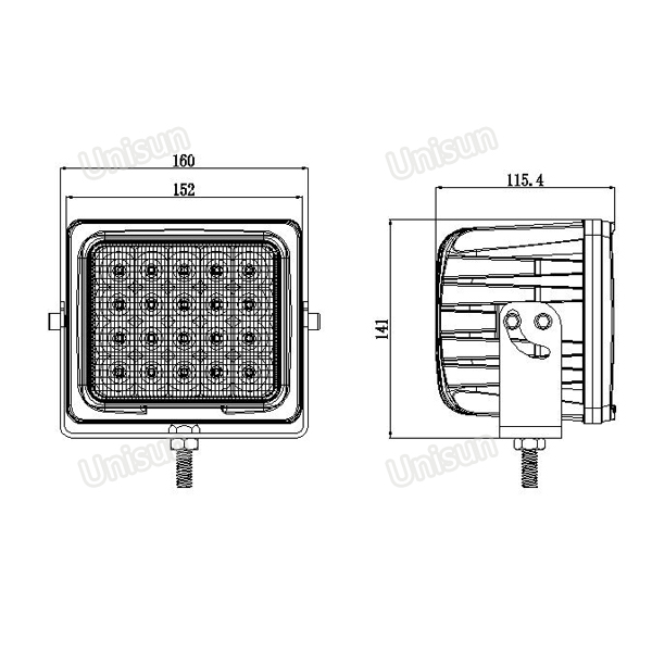 High Power 12V-48V 100W CREE LED Flood Light