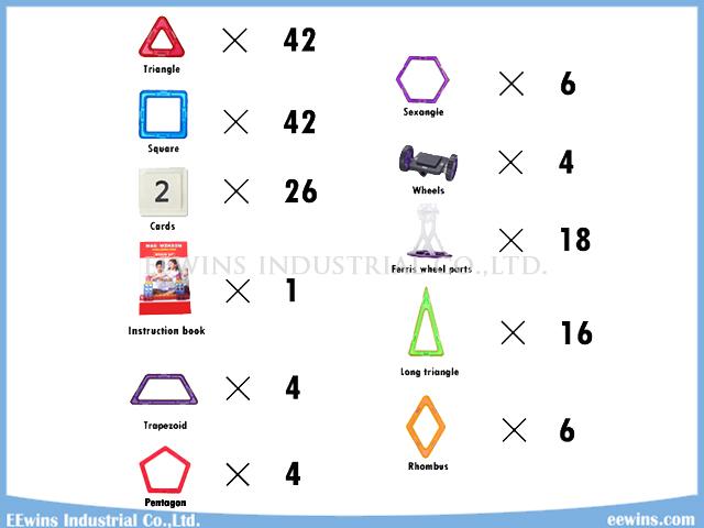 168PCS DIY Magnetic Puzzle Toys Wisdom Educational Toys for Children