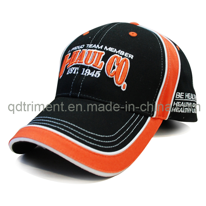 Constructed Cotton Twill Sandwich Embroidery Golf Sport Cap (TM1120)