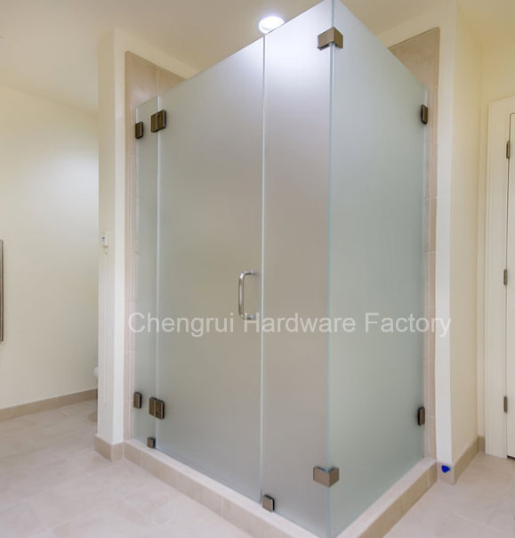 Arc-Shaped 180 Degree Bathroom Partition Clamp
