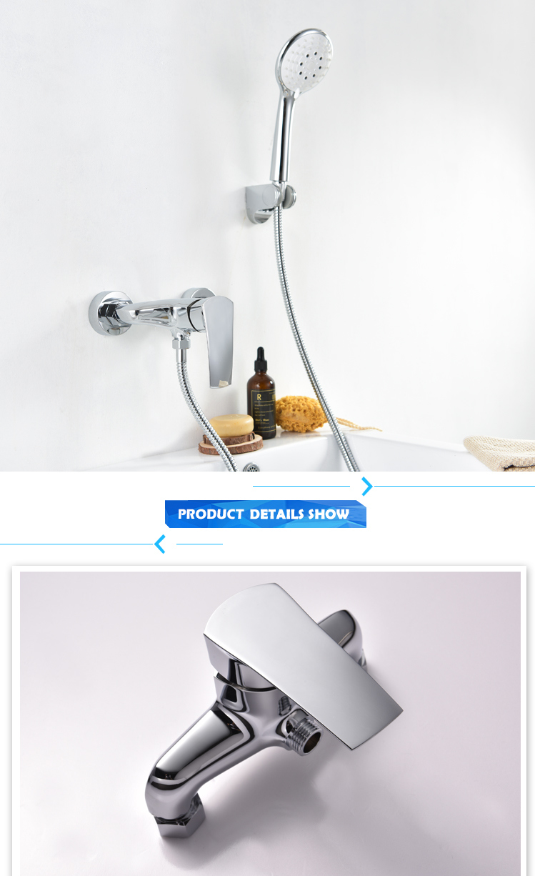 Weixiang Sanitary Wall Mounted Shower Faucet with Cancelled Mixer Tap