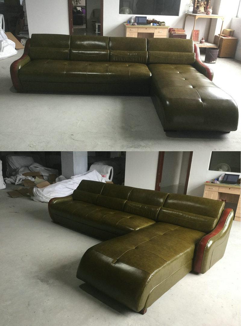 White Color Modern Sofa, Living Room Leather Sofa (C22)