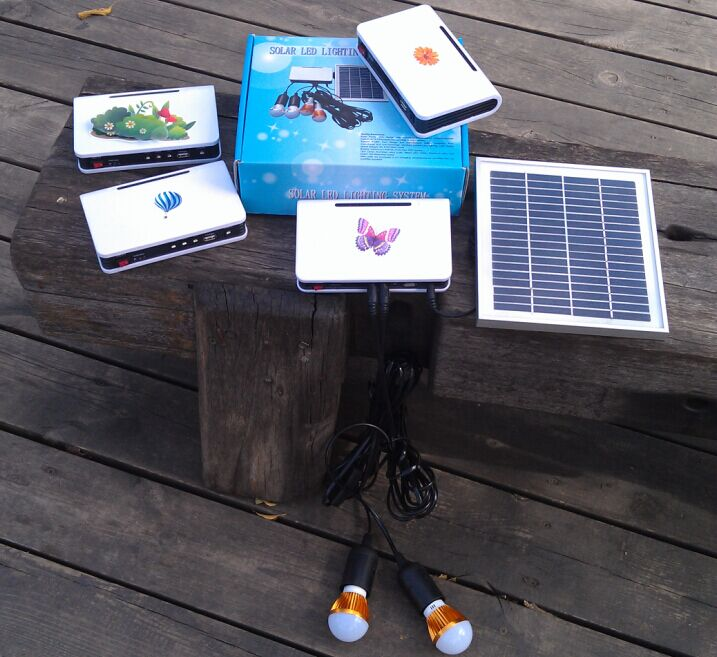 Rural Markets Solar LED Lighting Lights Lamps System with TUV Quality Approved