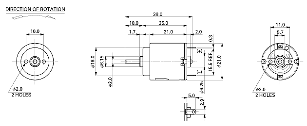 Re-140 Small Electrical Motor