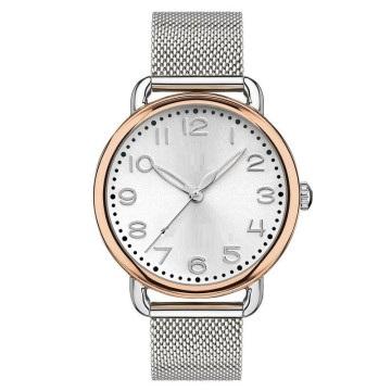 Fine 316L Wristwatch IP Rose Gold Plated Bezel 316L Net Band