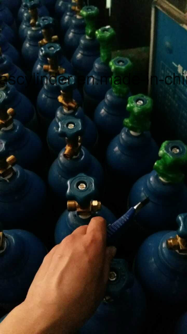 99.999% Helium Gas Filled in 40L Cylinder Qf-2 Valve