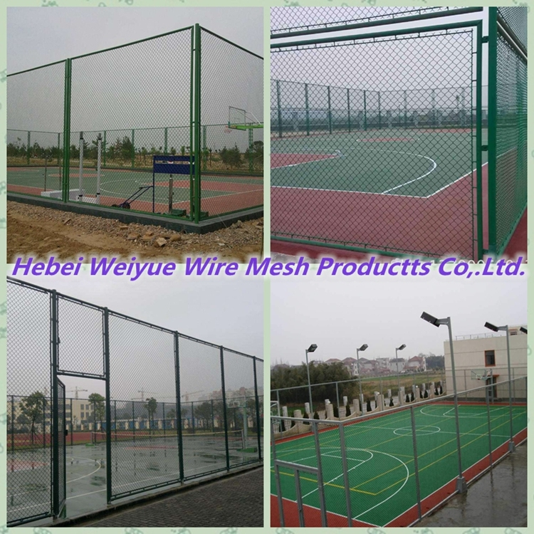 PVC Coated Wire Mesh Factory Fencing with Peach Post