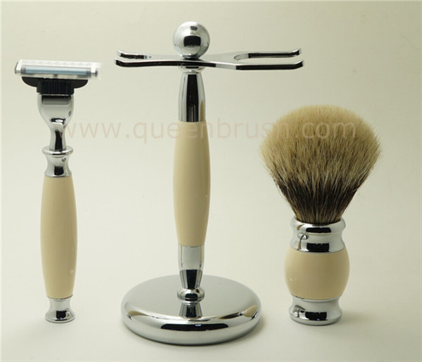 Private Label Goat Hair Shaving Brush Kits