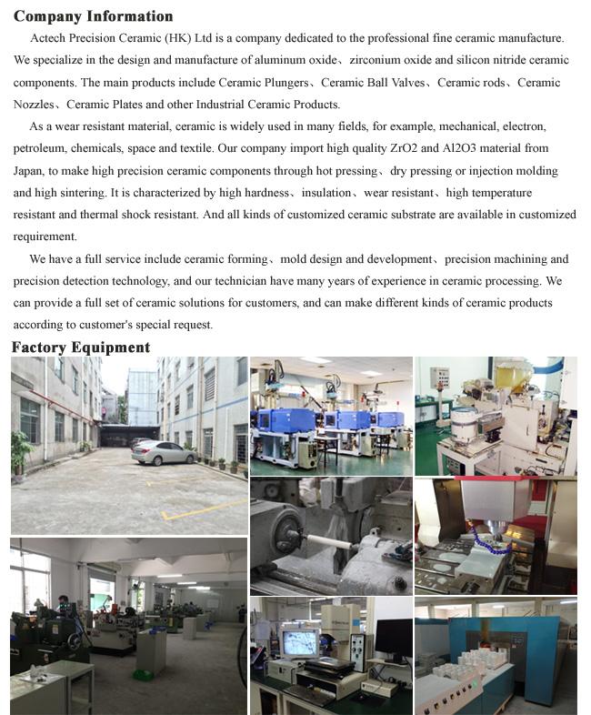 Precision Al2O3/Alumina Ceramic Sleeve/Bushing Machining