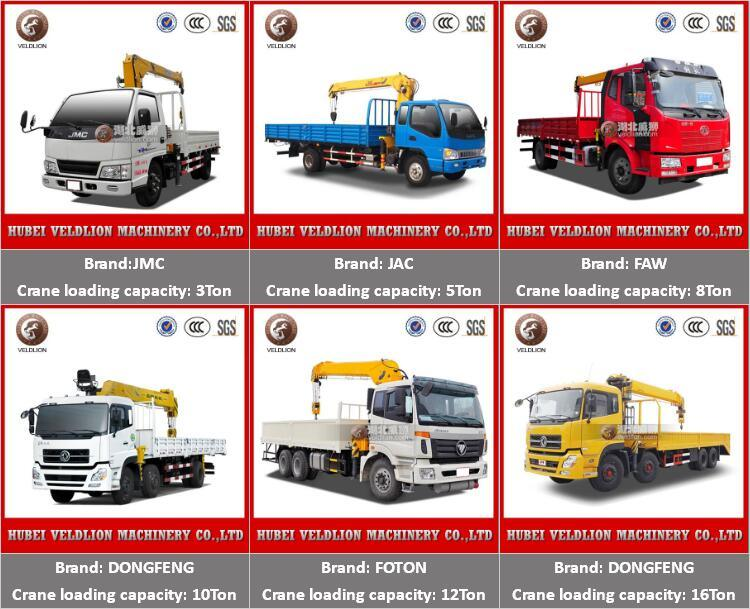 China High Quality Dongfeng Truck Mounted Crane Superior Truck with Crane 2t 3t 4t 5t Truck Crane Hot Sale in Africa