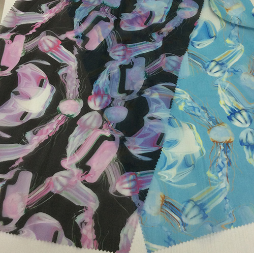 Polyester Digital Printed Organza for Garment and Decoration