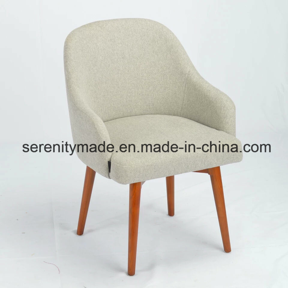 Contemporary Beige Linen/Waterproof Fabric Sofa Chairs with Solid Timper Legs