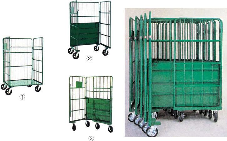 Movable Storage Roll Container Cages