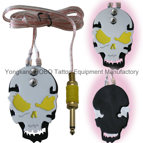 Premium Skull Pedal Tattoo Power Supply Tattoo Machine Foot Switch