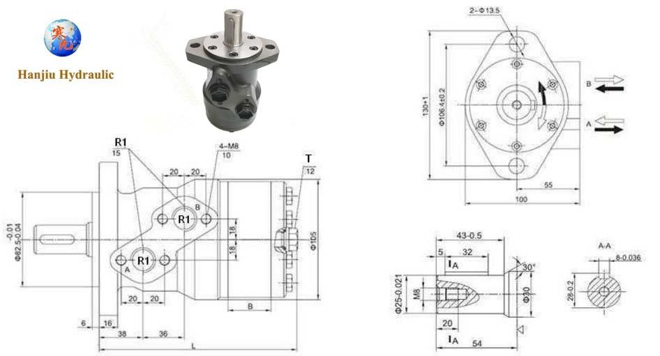 Bmr/OMR Hydraulic Orbital Motor Factory
