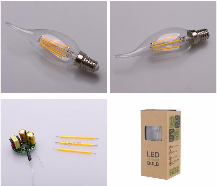 Dimmable LED Candle Light E14 4W Candle LED Light Bulb