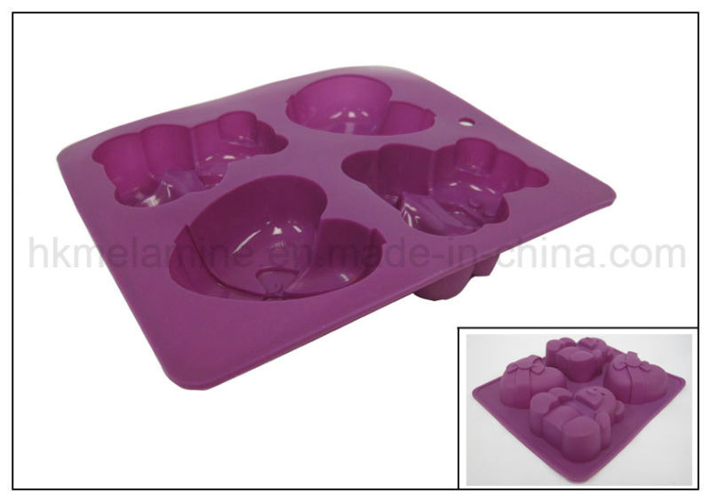 Bear and Heart Shaped Silicone Cake Mould (RS22)