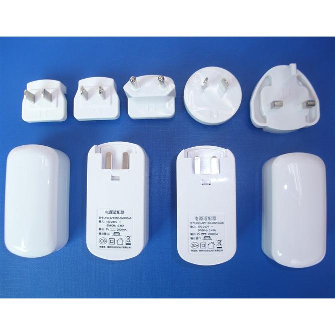Interchangeable Plug Power Adapter 5V1a 2A 3A 4A