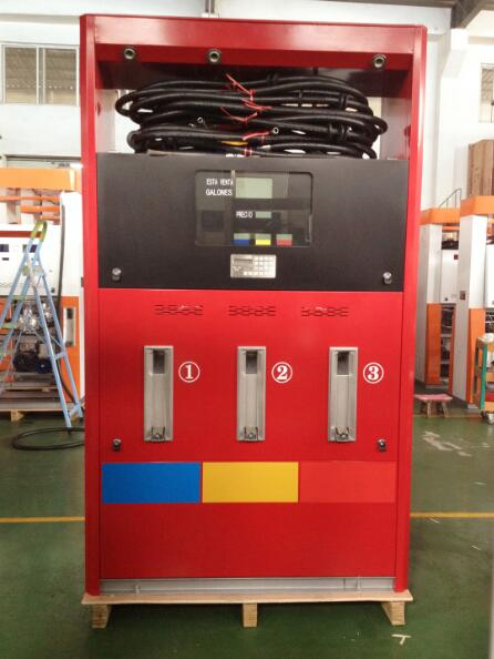 Zcheng Petrol Station Red Fuel Dispenser Rainbow Series 6 Nozzle
