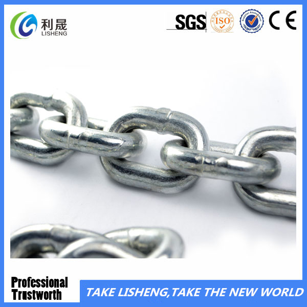 Q235 Steel Galvanized Welded Link Chain