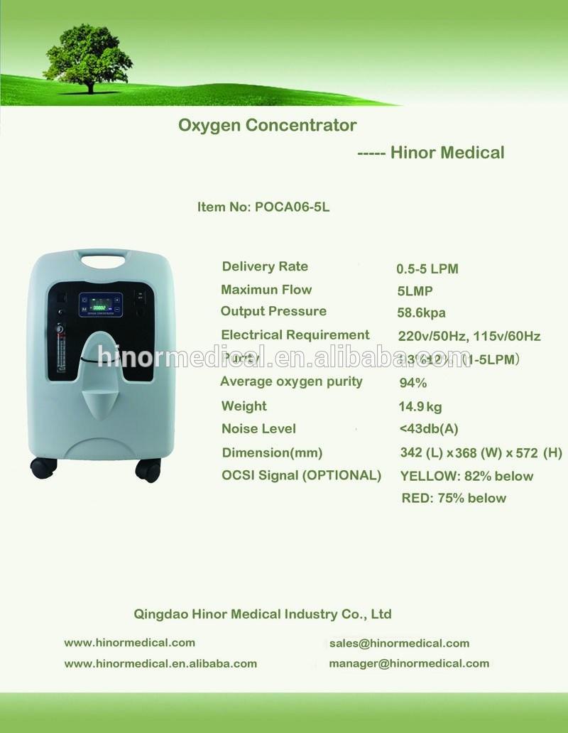 Small Light Inogen Poca06-5L Travel Constant Flow Oxygen Concentrator