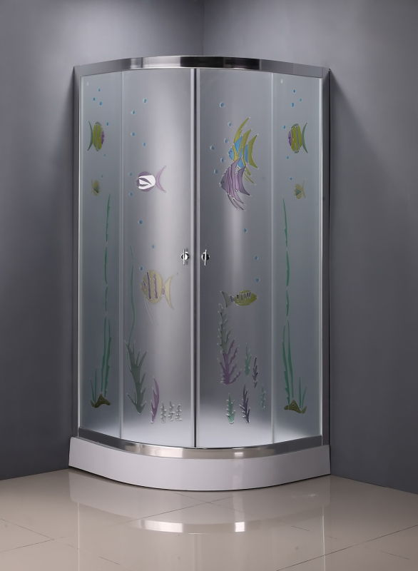 Patterned Glass Shower Enclosure (ADL-8048)