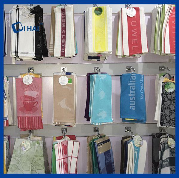 100% Cotton Yarn Macaron Kitchen Towel (QHA3212)