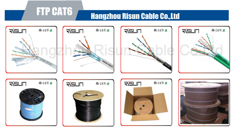 High Quality UTP/ FTP/ SFTP CAT6 Cable 4pr 23AWG Bc CCA LAN Cable