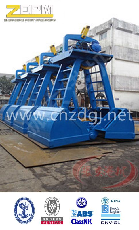 Single Rope Motor Electric Hydraulic Clamshell Grab for Bulk Cargo on Sale