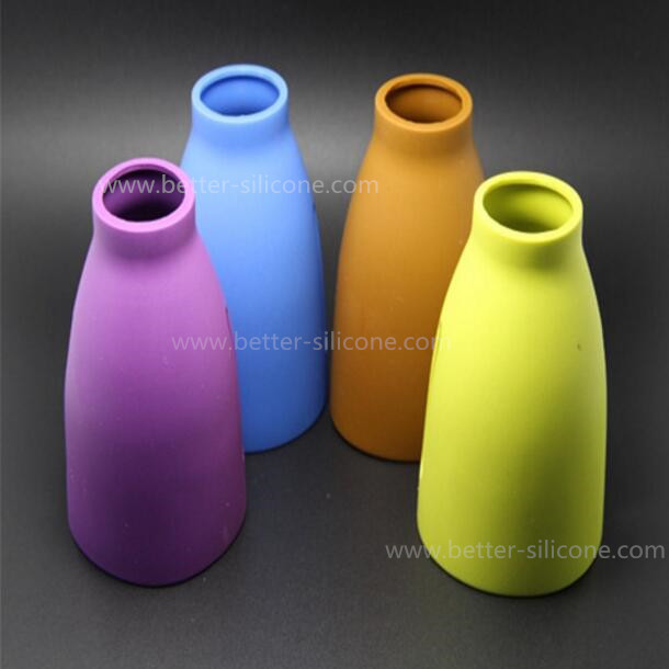 Custom BPA Free Heat Insulation Silicone Baby Glass Bottle Sleeve