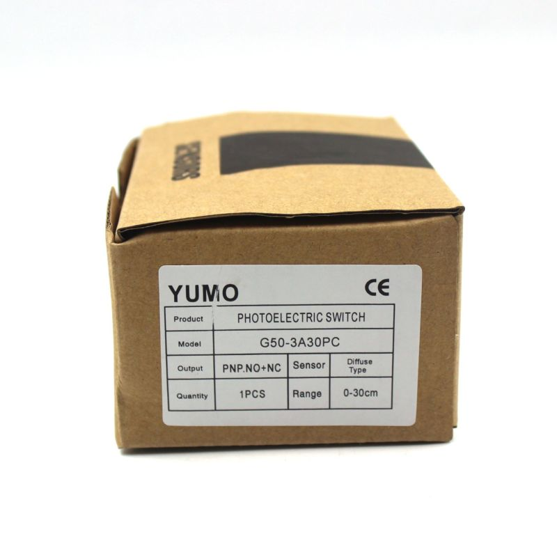 Yumo G50-3A30PC 10-30VDC Detection Infraded Square Photoelectric Switch Sensor