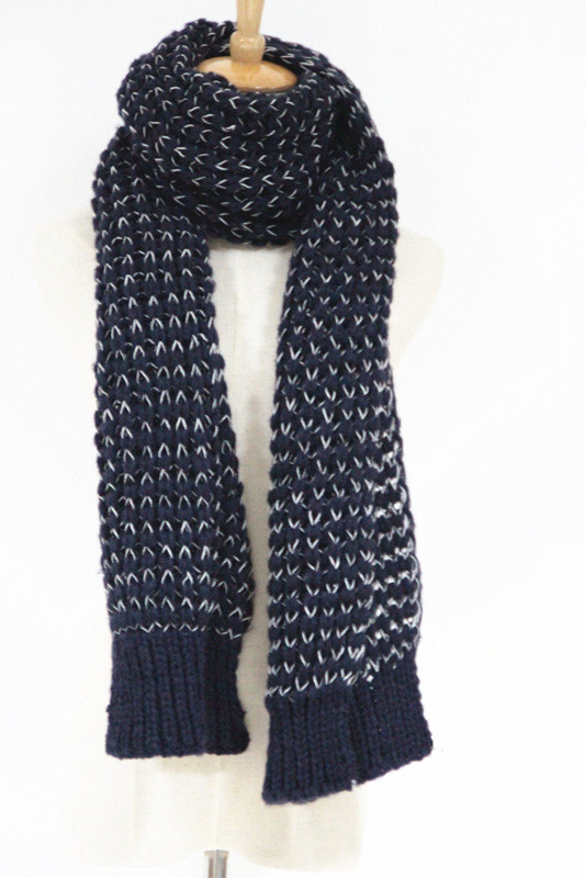 Womens Unisex Neck Warmer Fancy Thick Winter Yarn Mixed Knitted Scarf (SK153)
