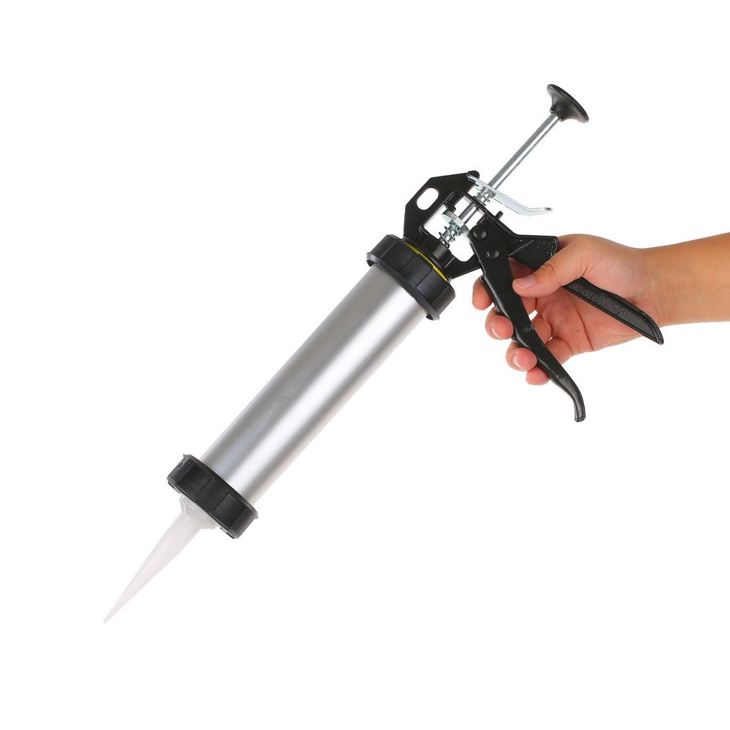 300ml Aluminum Alloy Hand Glass Cement Caulking Gun Manual Glue Gun for Home Decoration