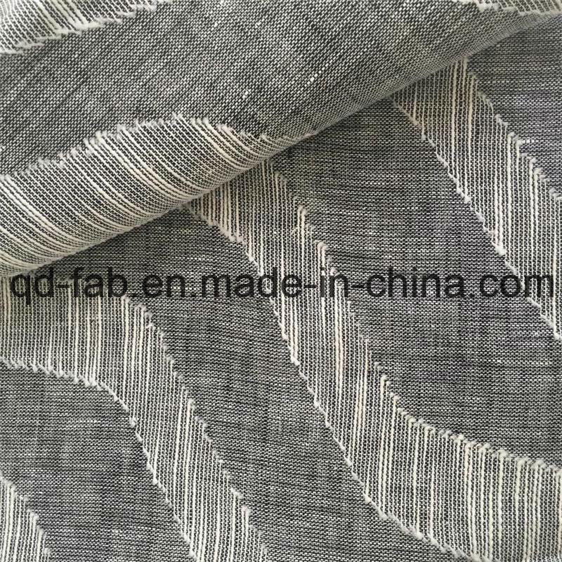 70*58 Cotton Linen Jacquard Woven Fabric (QF16-2516)