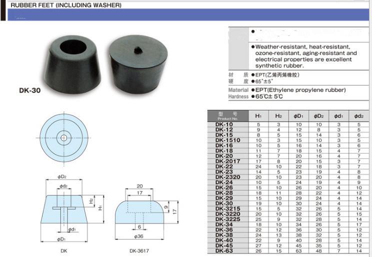 Anti-Vibration Rubber Bumper Bushing for Machinery Automotive