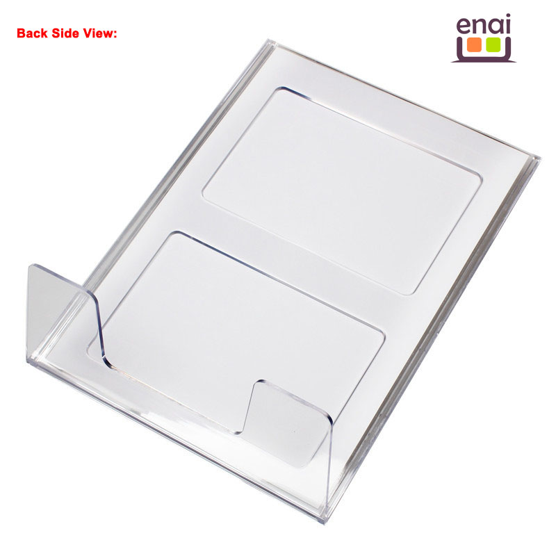 A4 Vertical High Class Plastic Card Sign Holder Stand with Customizing Logo