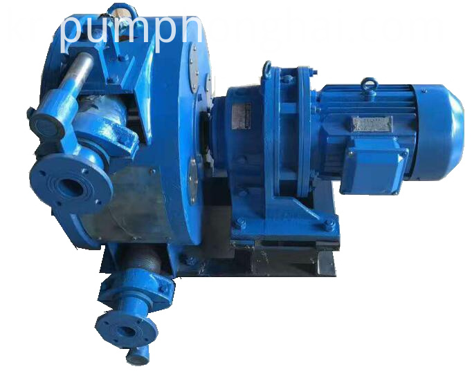 Industrial hose peristaltic pump