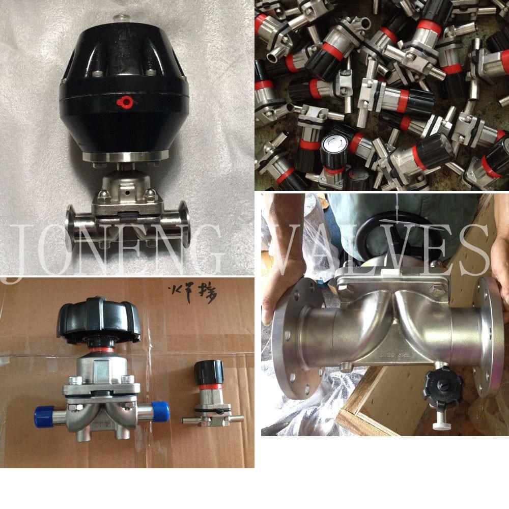 Stainless Steel Pneumatic Sanitary Diaphragm Membrane Valve (JN-DV1001)