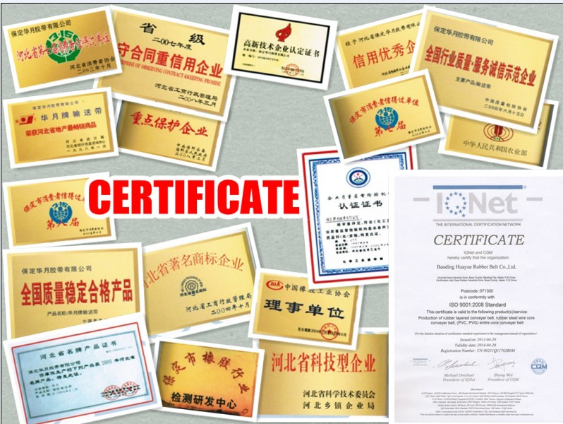 Figured Conveyor Belt Various Patterns Chevron China Well-Known Trademark