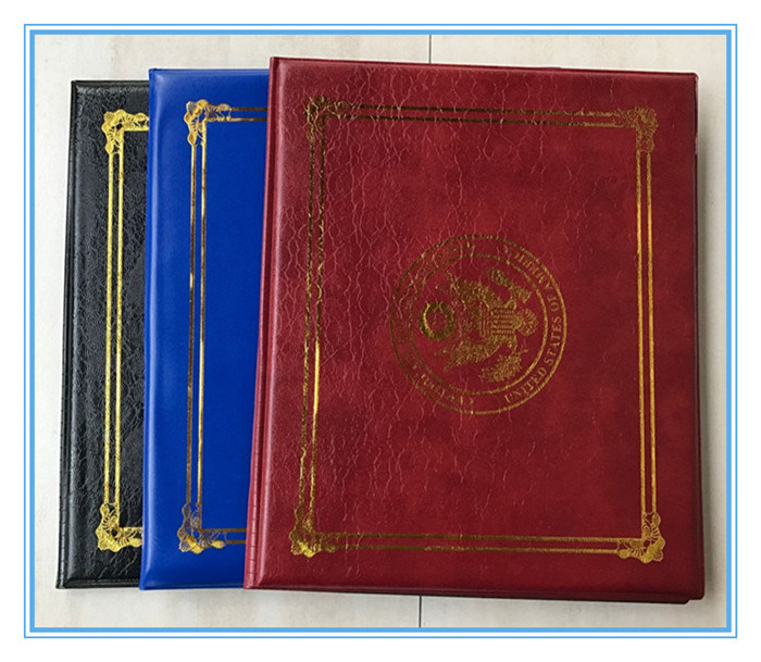 Custom Printed A5 Diploma Covers PU Padded Certificate Folders