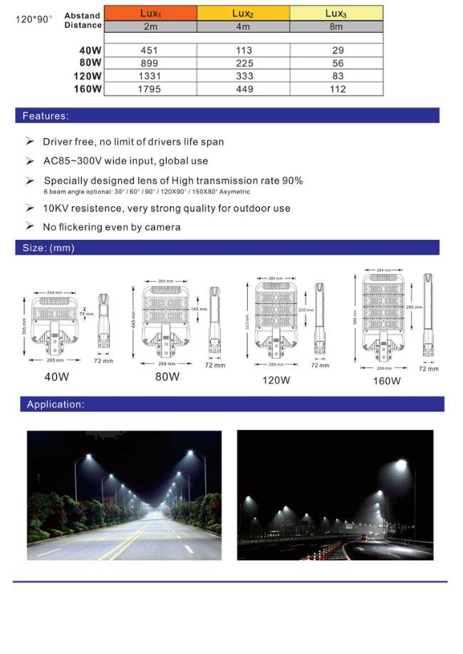 Hot Sales Osram3030 80W Driverless LED Street Light