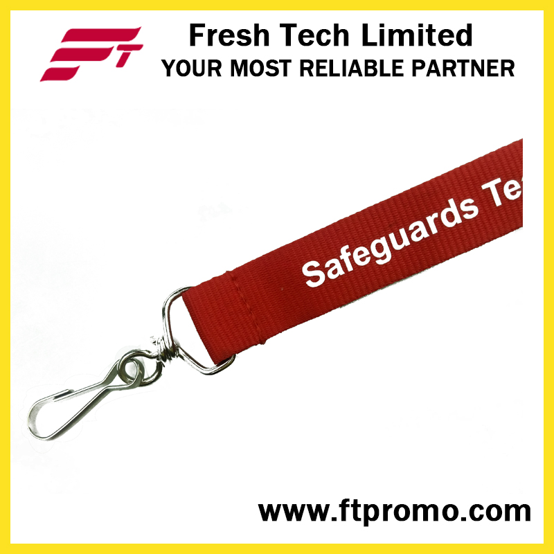 Screen Printing Polyester Lanyard with Designed Logo